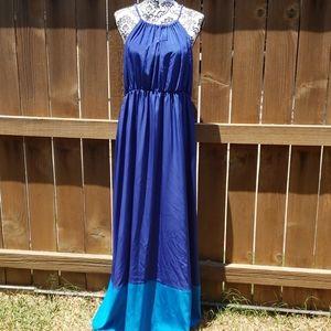 Blue Maxi Sundress